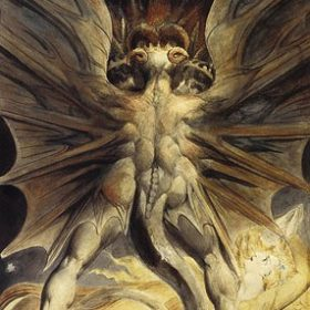 William Blake - The Great Red Dragon and the Woman Clothed with the Sun - yes I know this isn't Satan but it aint half close...sad that it was forced to appear in that crappy Hannibal film though, no mythical entity deserves that
