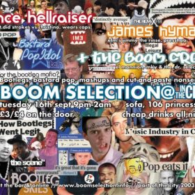 Boomselection Flyer excerpt, 2003
