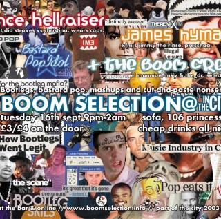 RC 82: Boomselection Flyer excerpt, 2003