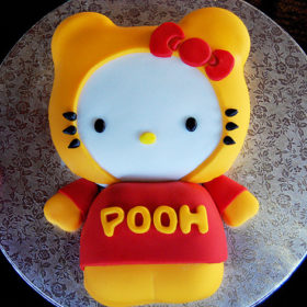 Hello-Kitty-Winnie-the-Pooh-Bear-MashUp-Cake