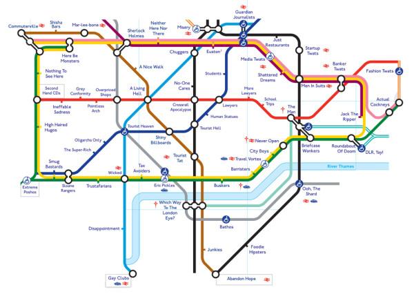 Matt Tucker Honest Tube Map