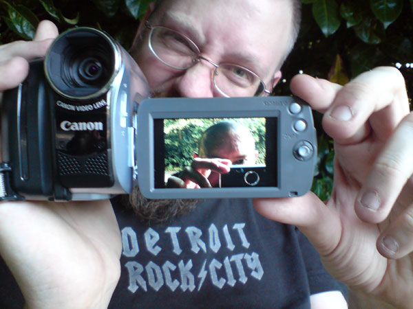 Me with camera by Kirk Coverley