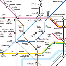 Musical London Underground map by Dorian Lynskey/Copyright LUL
