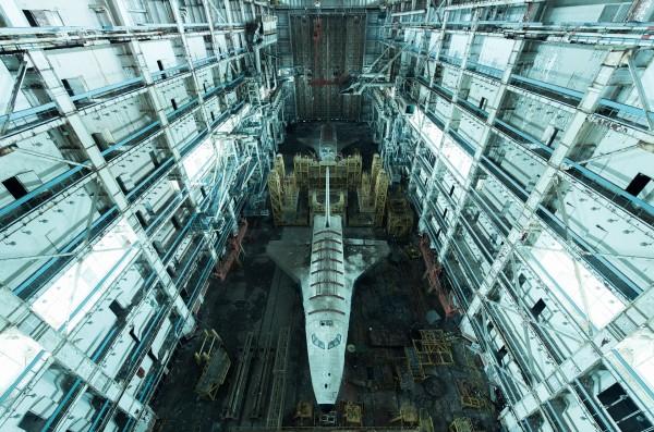 David de Rueda - Kazakhstan Two Soviet-era Buran space shuttles at the Baikonur Cosmodrome.